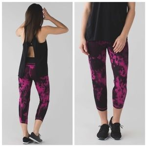 lululemon athletica Pants - Lulu Shake It Out Crop- Blooming Pixie Raspberry